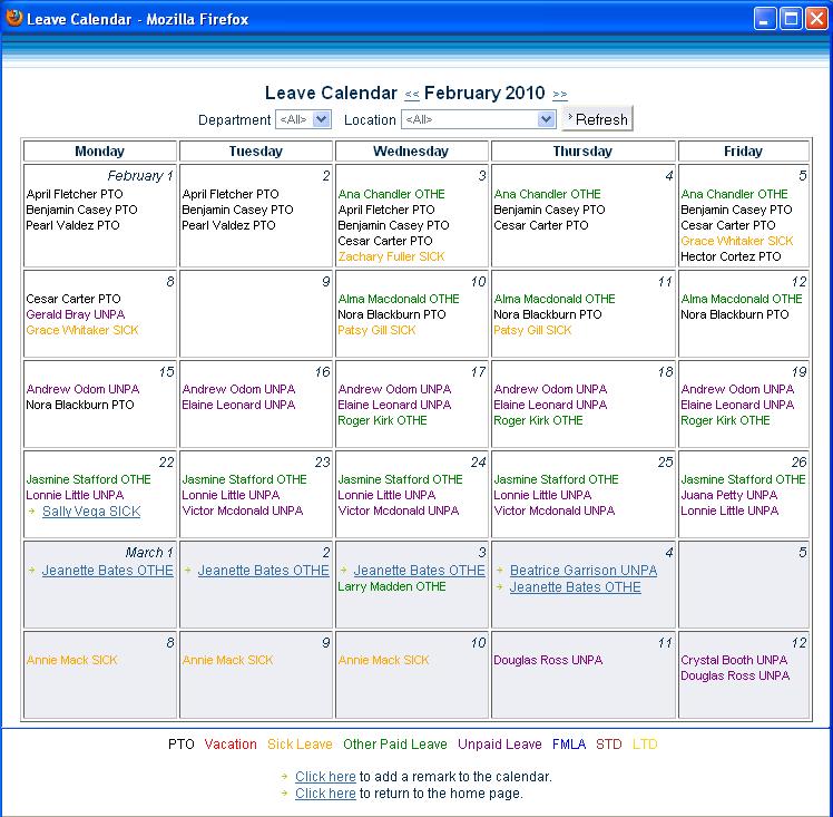 Calendar Leave Planner : Instant self serve software
